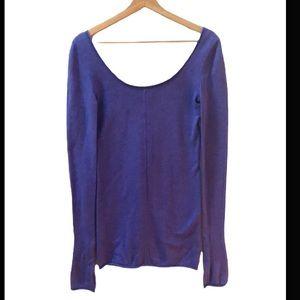 Lululemon Purple Scoop Neck Sweater